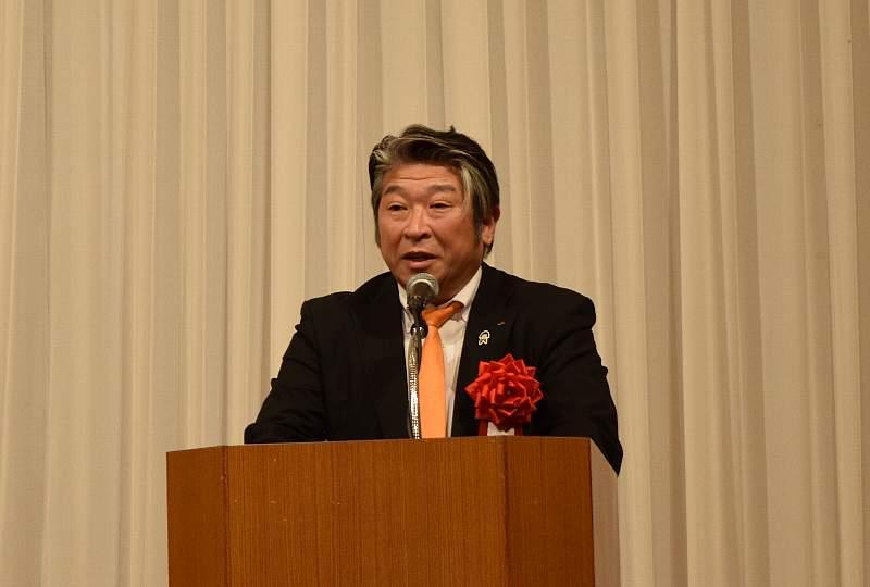 挨拶する茨城県農業協同組合中央会総務企画部長 寺山正史様