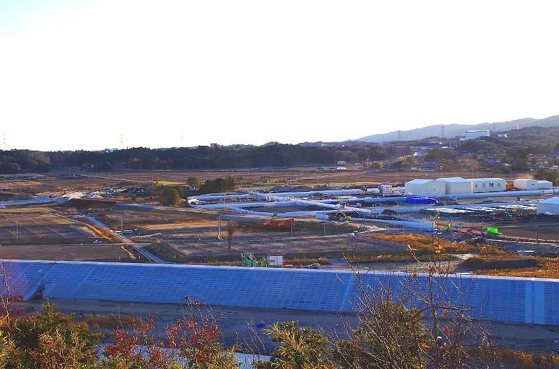 楢葉町天神岬仮置場の写真