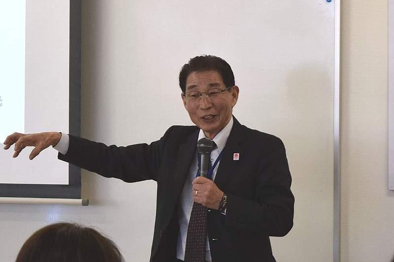 講師の一般社団法人 まちかど防災「減災塾」塾長 水島重光様
