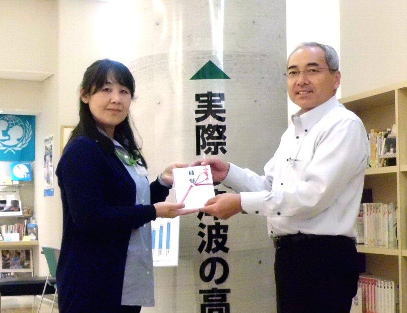 左から、羽田幸子理事、みやぎ生協執行役員 小澤義春様