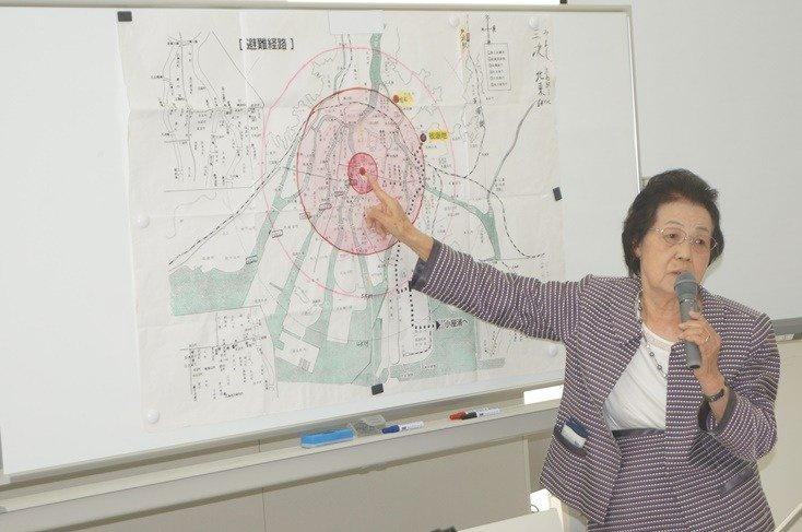栃木県小山市の高橋さんによる被爆体験談の様子
